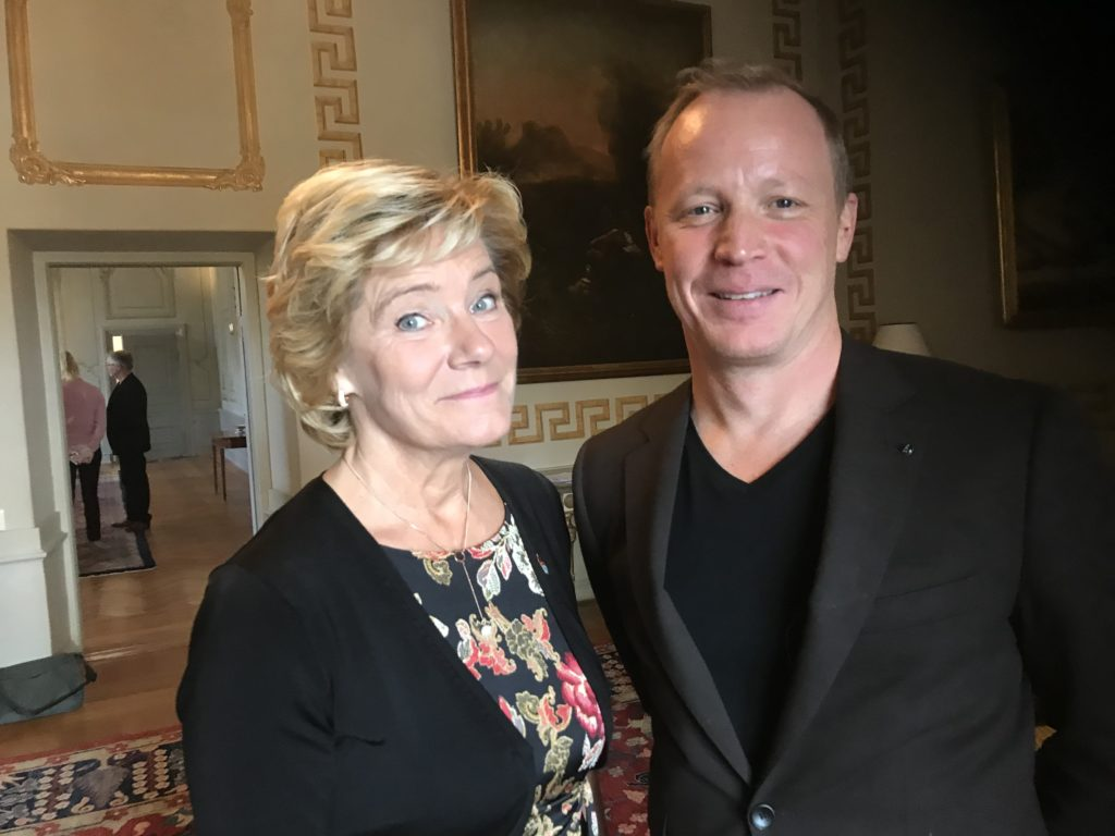 Jan and governor Maria Larsson