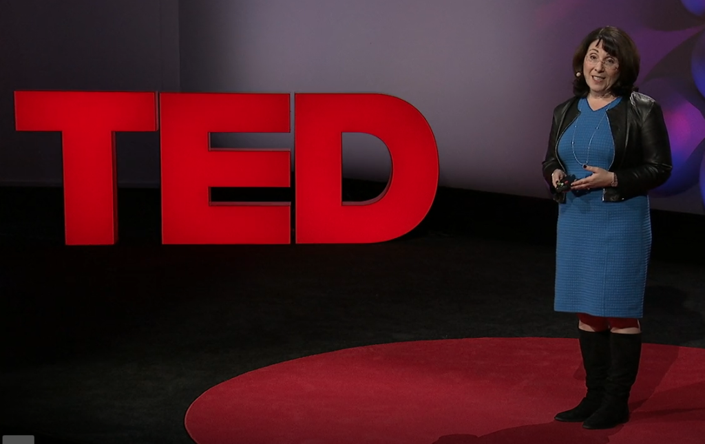 Lisa talking about emotions at a TED event hosted by IBM