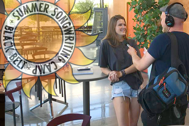 Swedish radio interviewing Keely Headrick, Mount Pleasant, South Carolina –participant at Black Belt Summer Songwriting Camp, Örebro College of Music.